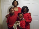 Dionna, Desiree, Deion, Destiny, and Sheba(the cat)